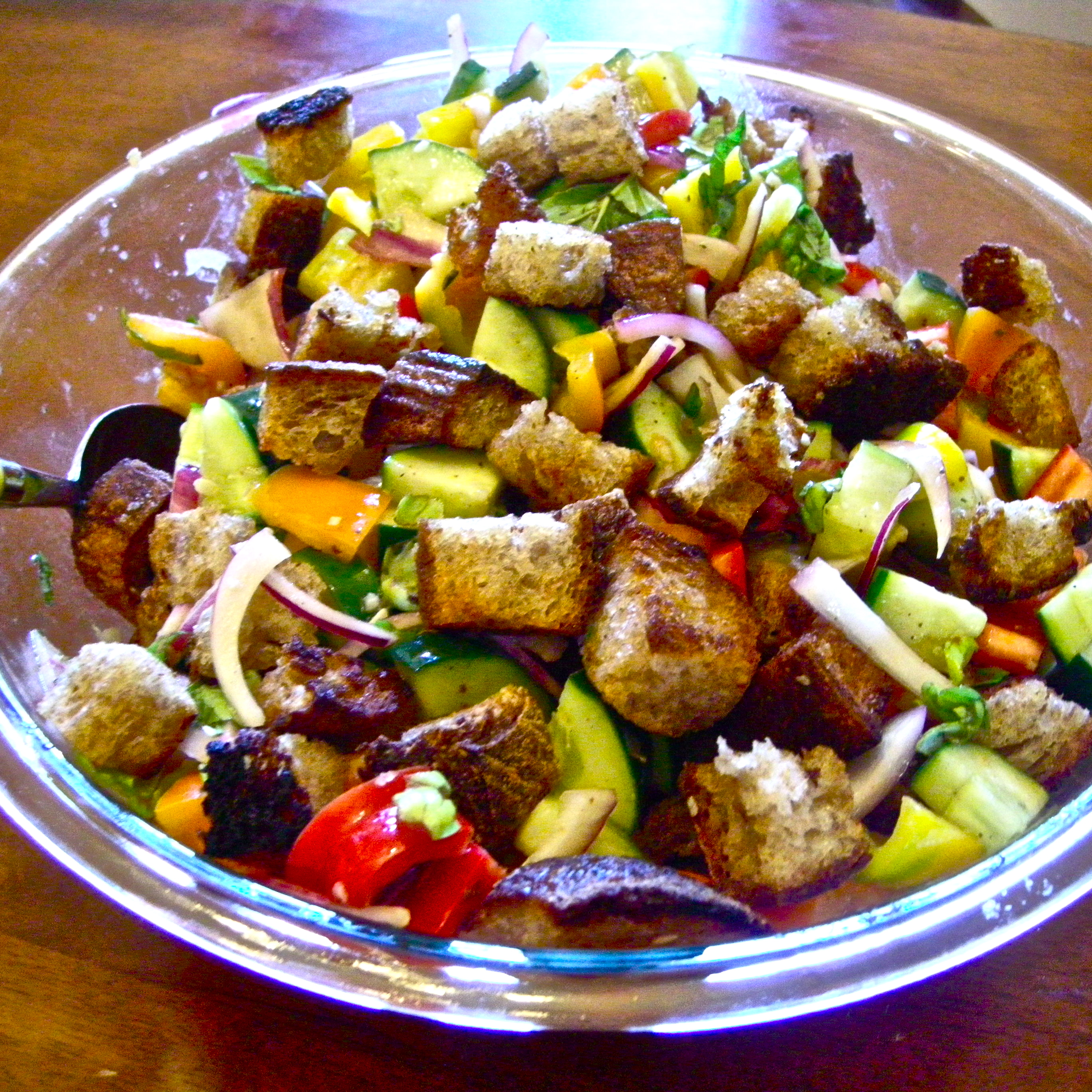 Marinated vegetable salads panzanella recipe momsicle Barefoot contessa panzanella