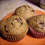 Whole pear dried cherry blender muffins. MomsicleBlog