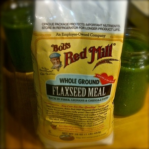 Here's a pic of the flax meal. MomsicleBlog