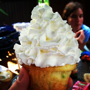 Use Reddi Whip liberally. MomsicleBlog
