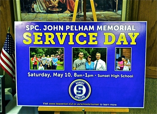 Beaverton, Oregon, service day in honor of John Alex Pelham