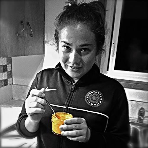 Meleana Shim Eats Gazpacho. MomsicleBlog
