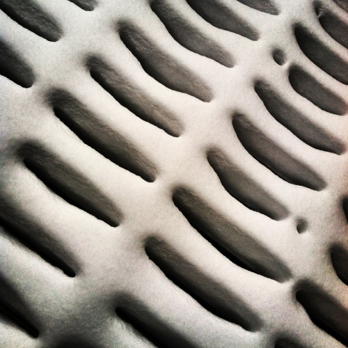 Snow on balcony. MomsicleBlog