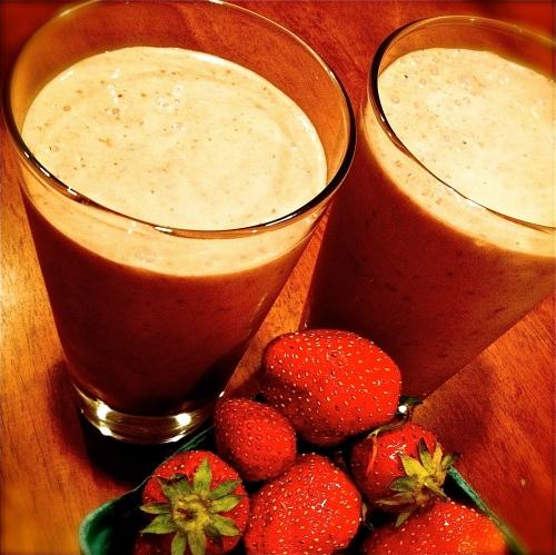 Vegan Roasted Strawberry Milkshake. MomsicleBlog