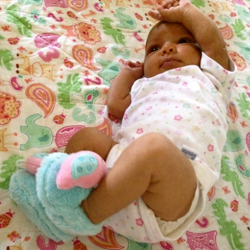 No secrets, just adorable baby slippers. MomsicleBlog