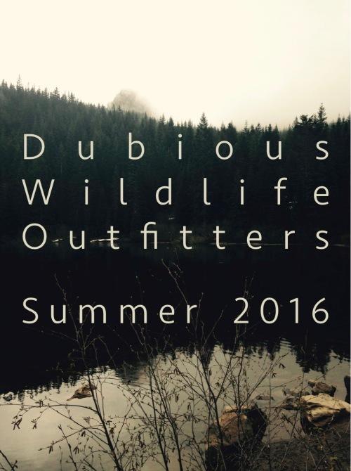 DubiousWildlifeOutfitters. MomsicleBlog