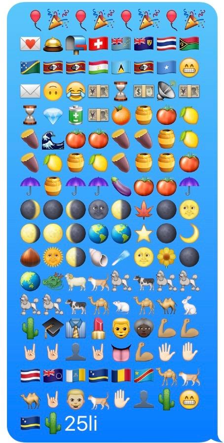 Emoji symphony. MomsicleBlog
